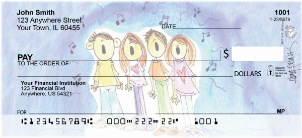 Singing Carolers Personal Checks | AMY-11