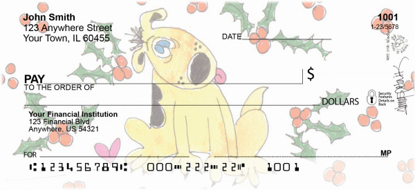 Holiday Puppy Personal Checks | AMY-12