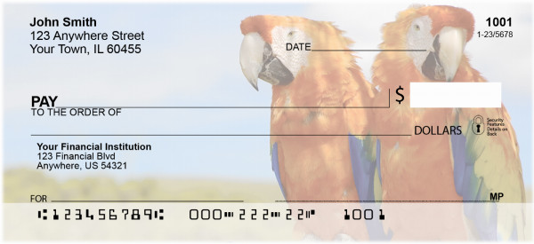 Macaw Parrots Personal Checks | ANI-41