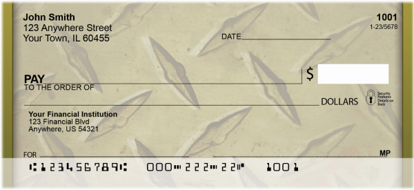 Go Green With Diamond Plate Personal Checks | BBH-65