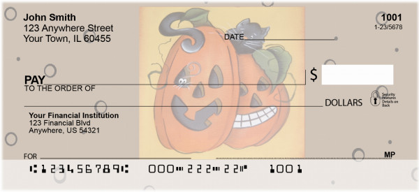 Pumpkin Hide and Seek Personal Checks | JHS-13