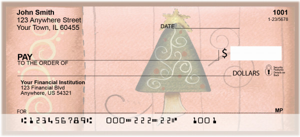 Swirl Tree & Stocking Personal Checks | JHS-16
