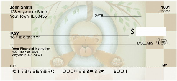 Tire Swing Teddy Personal Checks | JHS-20