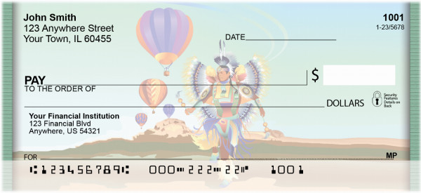 Balloons And Natives Personal Checks | QBQ-35