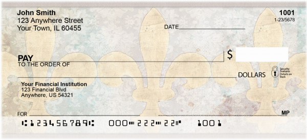 Antique Fleur de Lis Personal Checks | QBQ-84