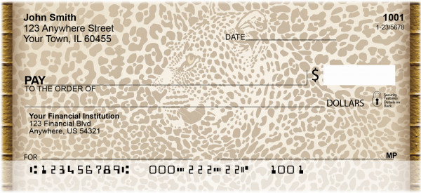 Animal Print With Faces Personal Checks | QBQ-99