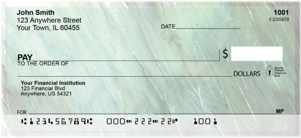 Rain Inspired Personal Checks | QBR-12