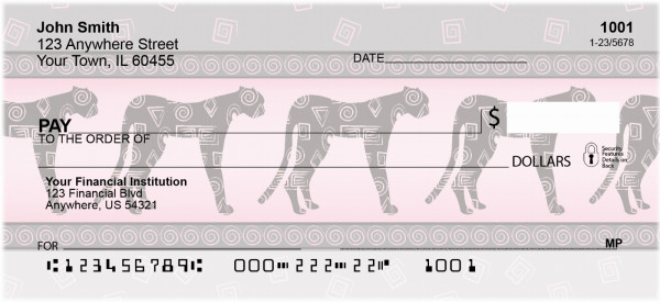 Glowing Safari Personal Checks | QBR-15