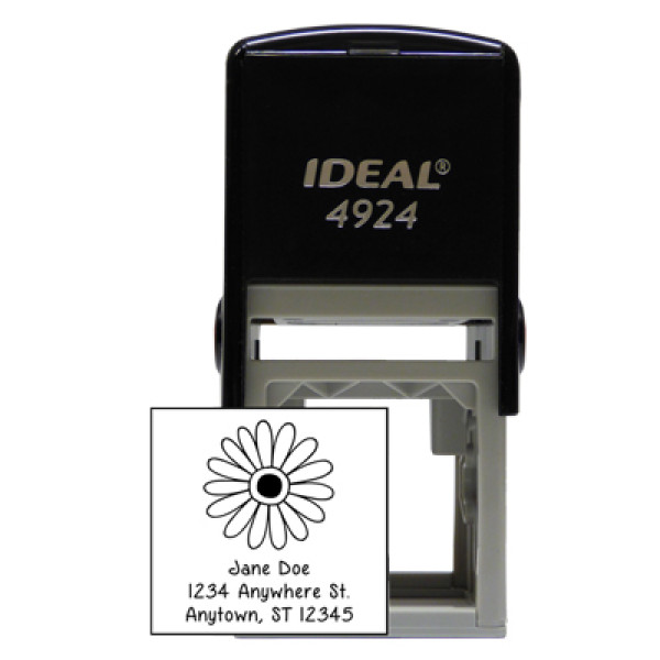 Designer Flower Square Stamp | STA-LAS-DS02