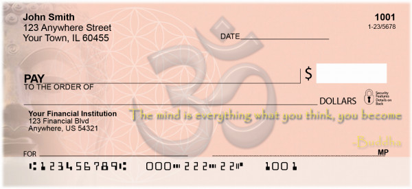 Ancient Wisdom Personal Checks | WIS-01
