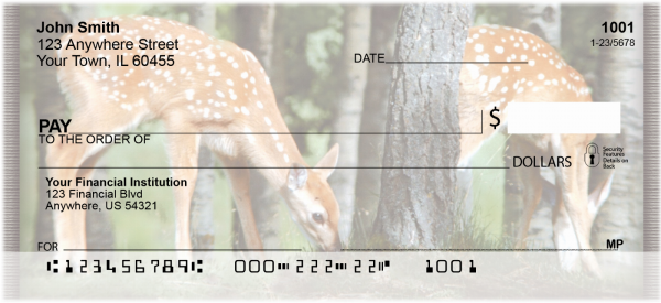 Baby Deer Personal Checks | ZANI-18