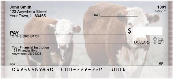 Cows Personal Checks | ZANI-54