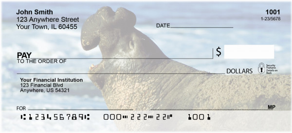 Elephant Seals and Sea Lions Personal Checks | ZANI-70