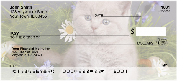 Flowers & Felines Personal Checks | ZANJ-12