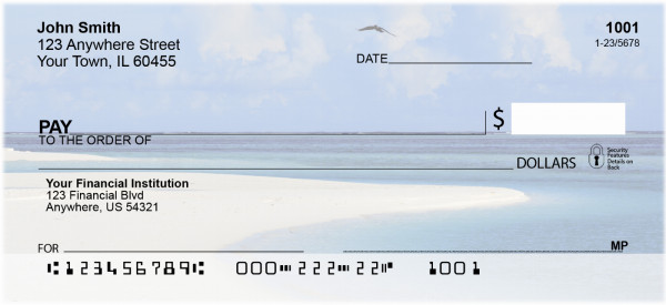Beach Birds Personal Checks | ZANJ-15