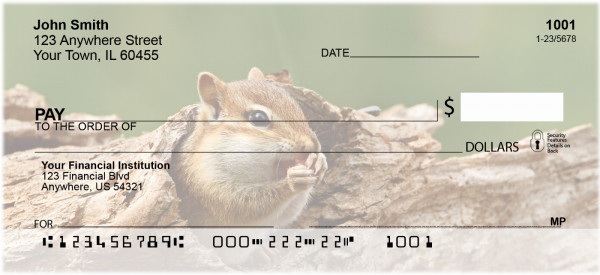 Chipmunks In Woods Personal Checks | ZANJ-28