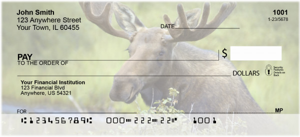 Moose Personal Checks | ZANJ-48