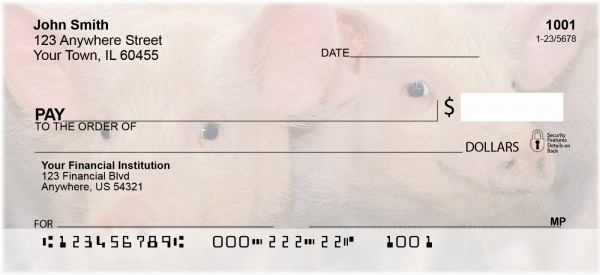 Pigs Personal Checks | ZANJ-58