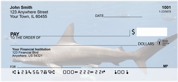 Shark Infested Waters Personal Checks | ZANJ-64