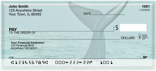 Whale Of A Tail Personal Checks | ZANJ-88