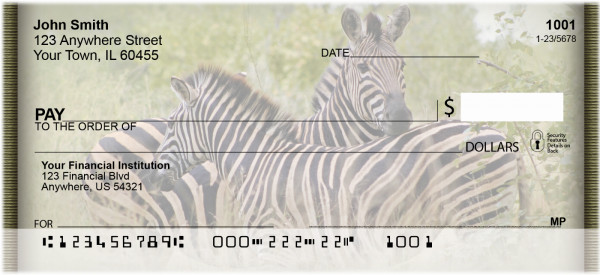 Zebra In Wild Personal Checks | ZANJ-92