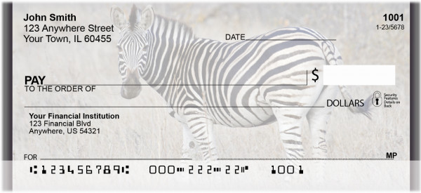 Zebra Safari Personal Checks | ZANJ-94