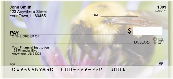 Bees On Flowers Personal Checks | ZANK-18