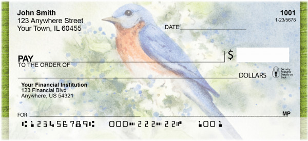 Nesting Birds Personal Checks | ZANK-20