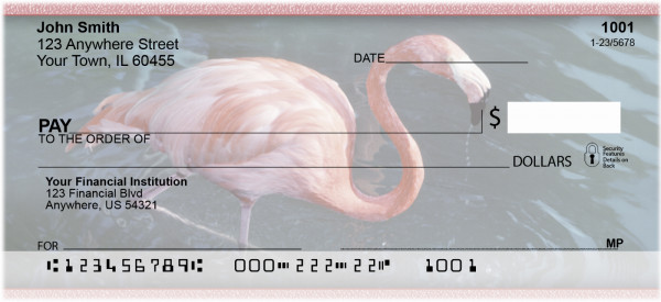 Flamingos In Wild Personal Checks | ZANK-37