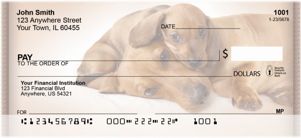 Dachshund Puppies Personal Checks | ZDOG-16