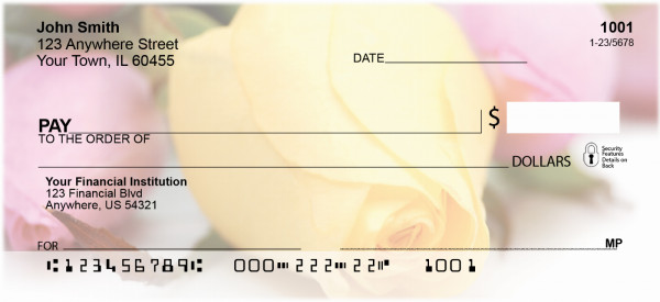 Spring Rose Bouquet Personal Checks | ZFLO-41