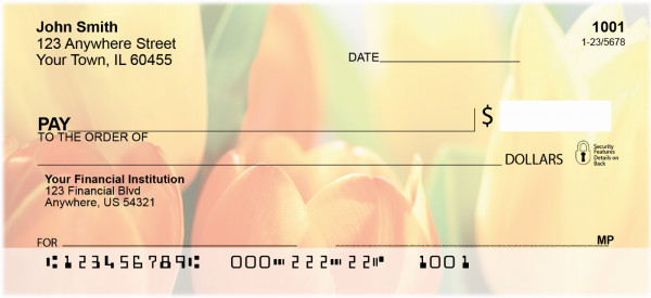 Tulip Temptations Personal Checks | ZFLO-45