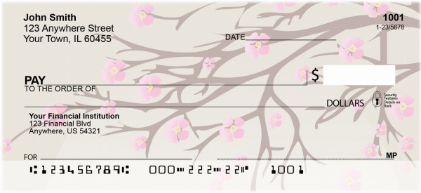 Oriental Blossoms In Spring Personal Checks | ZFLO-57