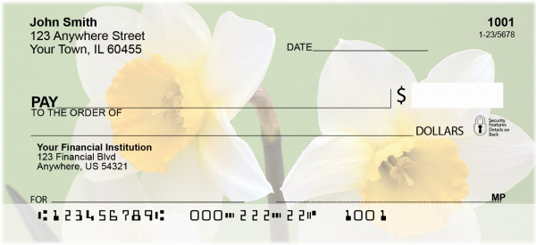 Dreamy Daffodils Personal Checks | ZFLO-72