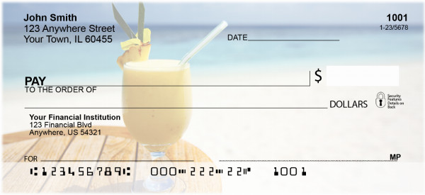 Tropical Cocktails Personal Checks | ZFOD-29