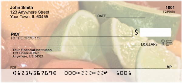 Luscious Fruits Personal Checks | ZFOD-39