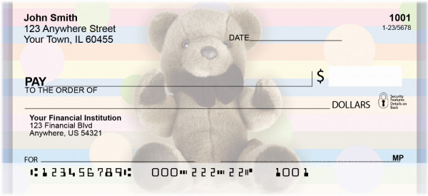 Teddy Bears Personal Checks | ZFUN-02