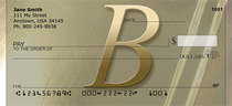 Golden Monogram B Personal Checks