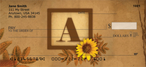 Sunflowers Monogram A Personal Checks