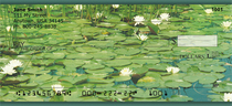 Water Lilies Personal Checks