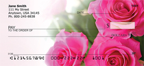 Pink Roses Personal Checks