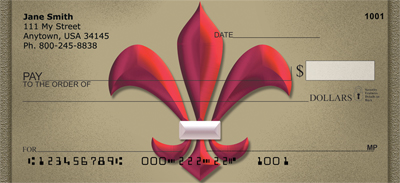 Colorful Fleur de Lis Personal Checks
