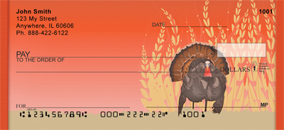 Fall Turkey Personal Checks