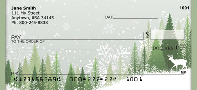 Deer Winter Holiday Personal Checks