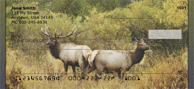Rocky Mountain Elk In Fall Personal Checks