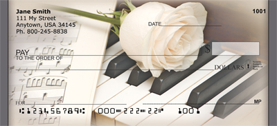 Music roses And Romance Personal Checks