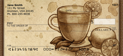 Vintage Coffee, Tea Or Me Personal Checks