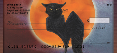 Full Moons And Black Cats Personal Checks