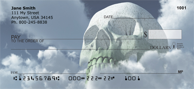 Skulls Looming from Land And Sea Personal Checks