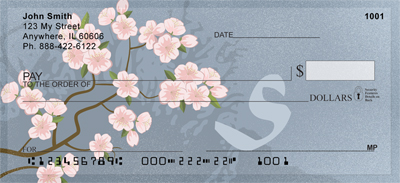 Cherry Blossom Serenity - S Monogram Checks